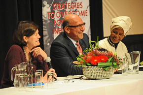 Minister Trevor Manuel and Kate O'Regan and Dr Mamphela Ramphele