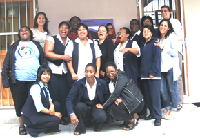 The PMHP team with staff at the Hanover Park Midwife Obstetric Unit