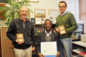 Prof Mark Alexander, Mike Otieno and Dr Hans Beushausen