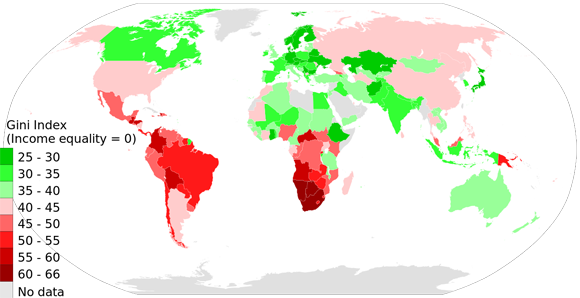 Gini Index World Map