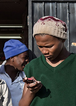 Mobile phone in township