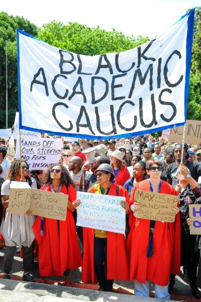Academics march in solidarity with students