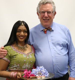Saying goodbye: Legal counsellor Anne Isaac, who organised the farewell for outgoing registrar Hugh Amoore, says she owes him a great deal both personally and professionally.