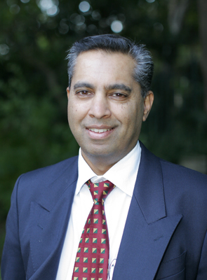 UCT's Professor Keertan Dheda from the Division of Pulmonology.