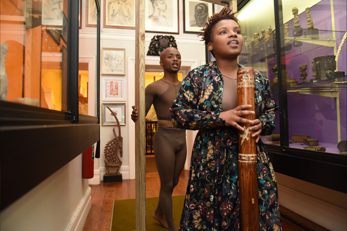On 27 May UCT celebrated Africa Day and the 20th anniversary of IAPO at the Irma Stern Museum. Here Grace Nosilela (front) and Tandile Mbatsha (behind) perform a work titled Inspired by Irma.