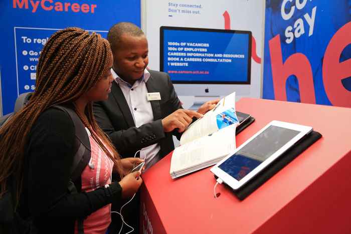 An Africa Careers Expo was held in the Snape Building on 12 May.