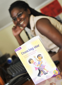 Shumi Chimombe and her book, Dancing Star