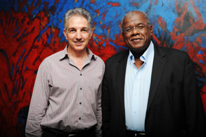 Dr Max Price (left) and Prof Jonathan Jansen