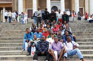 Prospective students at a UCT open day