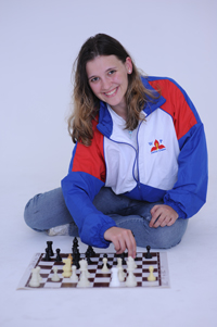 Laura Irving, chairperson of the UCT Chess Club