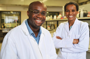 Prof Kelly Chibale and Dr Denise Saravanakumar
