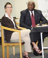 Prof PJ Schwikkard and Chief Justice Sandile Ngcobo