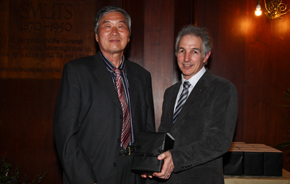 Retiree Prof Renkuan Guo with Dr Max Price