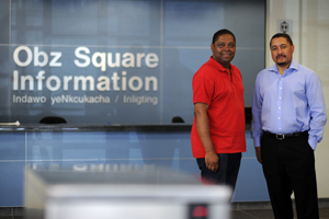Jerome September and Dr Kevin Thomas - Obz Square wardens