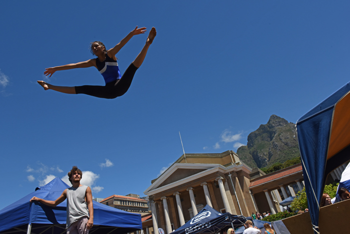 Naadirah Moola – a Western Cape gymnast and a member of UCT Gymnastics