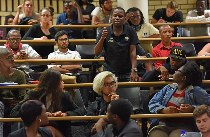 Student Parliament takes an official stance on whether the Rhodes statue should be removed. After hours of robust discussion and debate on 19 March, a motion was proposed 'for the support of the removal of the Cecil John Rhodes statue'. An overwhelming 80% of the house supported the motion. Here Luntu Sokutu, Progressive Youth Alliance member, voices his opinions on the matter. Photo by Michael Hammond.