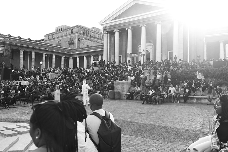 Hundreds of students and staff attended the mass meeting held by the Free Education Planning Group on the Plaza. The meeting gave members of the UCT community the chance to voice their concerns regarding transformation on campus.