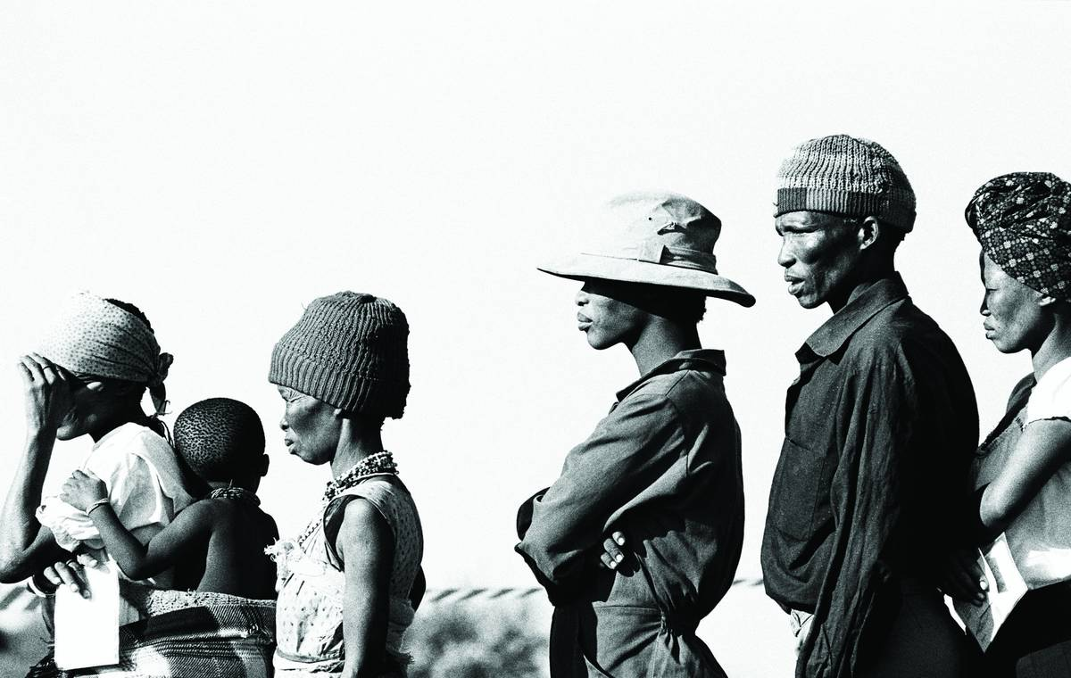Voting for the first time: UN free and fair election, Namibia, 1989