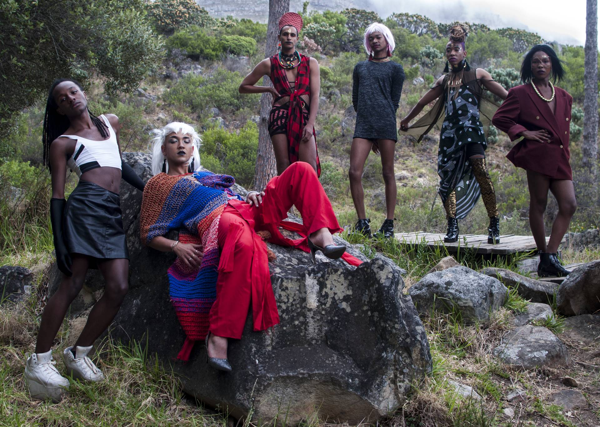 "Fashion maven Gavin Mikey Collins co-ordinated and directed the shoot that saw the likes of Umlilo, Kieron Jina, Sandiso Ngubane, Githan Coopoo, Vuyisani Bisholo, Quaid ""Queezy"" Heneke and Joshua Allen disrupt the heteronormative and colonial gaze with their unwavering celebration of femininity."