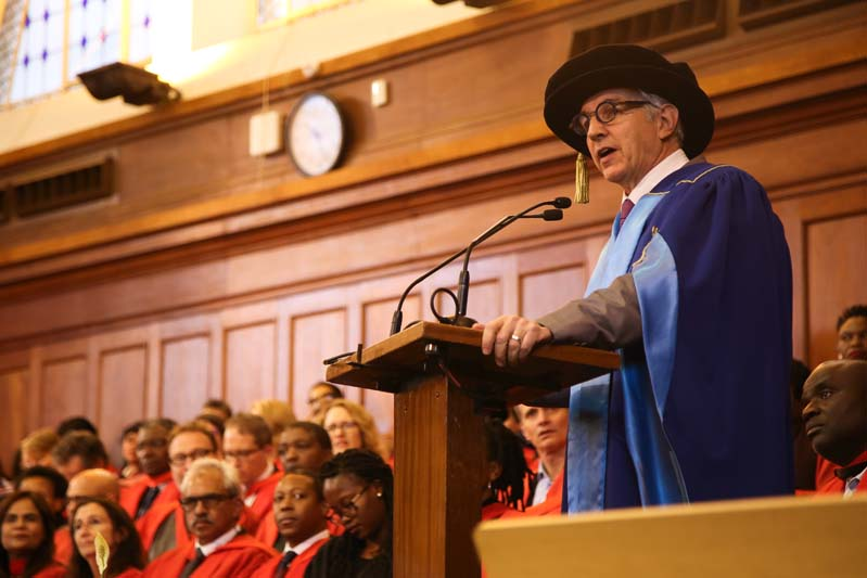 Dr Max Price gave his last speech at graduation as the Vice-Chancellor of the university. His term comes to an end on 30 June.