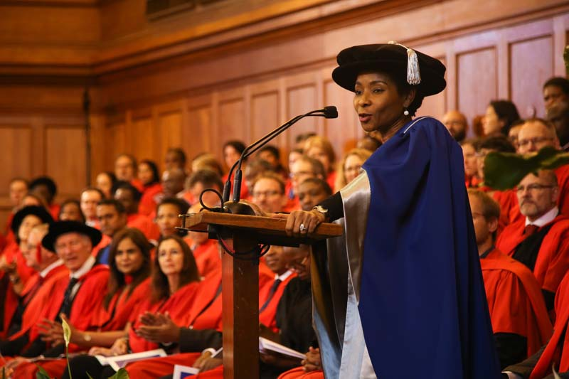 UCT Vice-Chancellor designate Professor Mamokgethi Phakeng addressed the graduands during the ceremony.