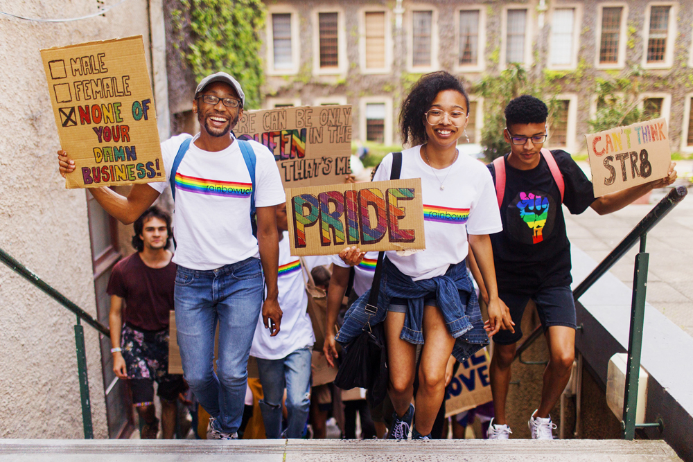 Students march to promote a climate of inclusivity at UCT during Rainbow Week.