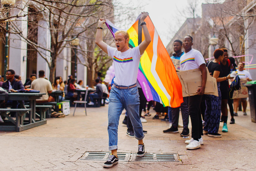 UCT staff and students alike join the lively, colourful Pride march in support of freedom and individuality.