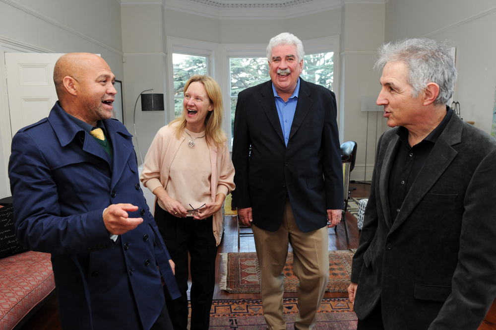 Dr Price shares a joke with (from left) Dr Russell Ally, Marilynn McNamara and Dr Jim McNamara at Dr McNamara's farewell event in 2013 at Glenara.
