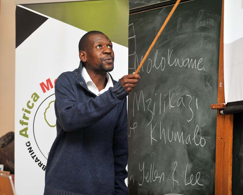 "Dr Shadreck Chirikure delivered his lecture ""Was Mapungubwe the Origin of the Zimbabwe Culture"" as part of Africa Month celebrations in the Beattie Building on 14 May 2012."