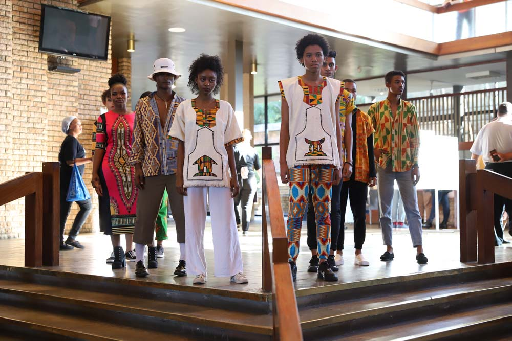 Students modelled African fashions at the Africa Day Symposium on 5 May 2019.