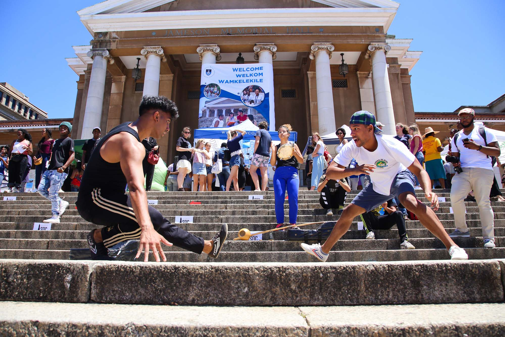First-year students spent three days enjoying Plaza Week, when UCT's clubs and societies set up camp in front of Sarah Baartman Hall to sign up new members.