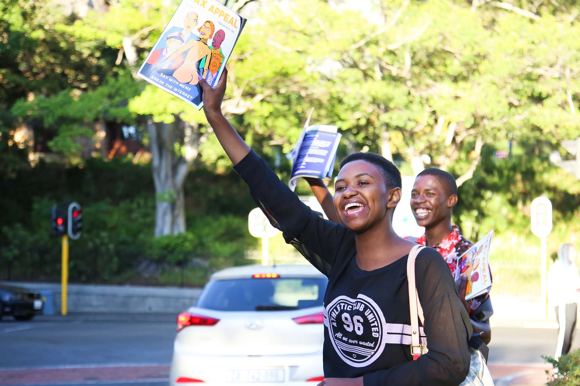 First-year student volunteers took to Cape Town's streets to sell the 86th edition of <i>SAX Appeal</i>.