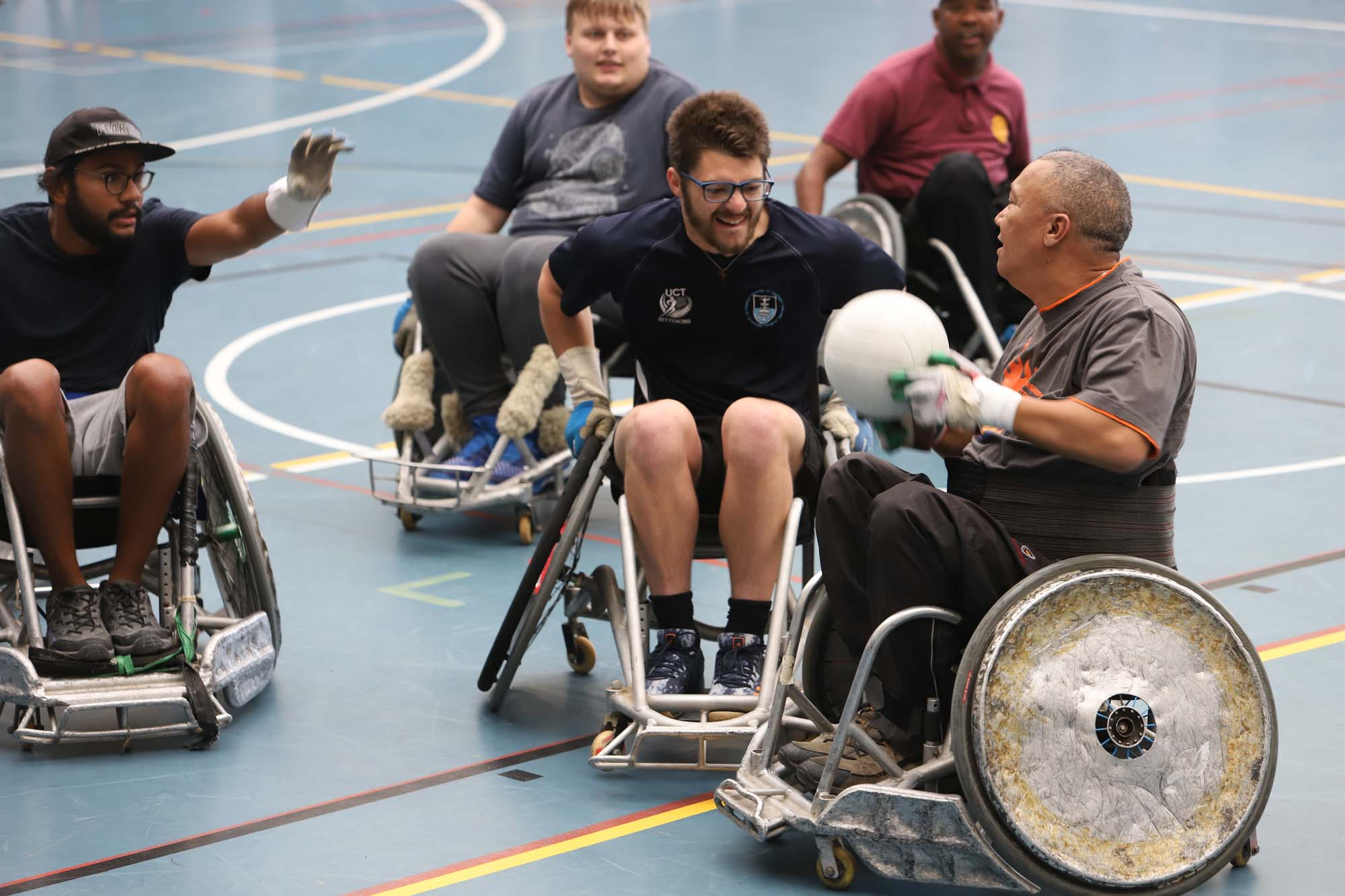 Hosted in support of sports for people with disabilities, the Interclub Wheelchair Rugby Tournament took place in May at the UCT Sports Centre.