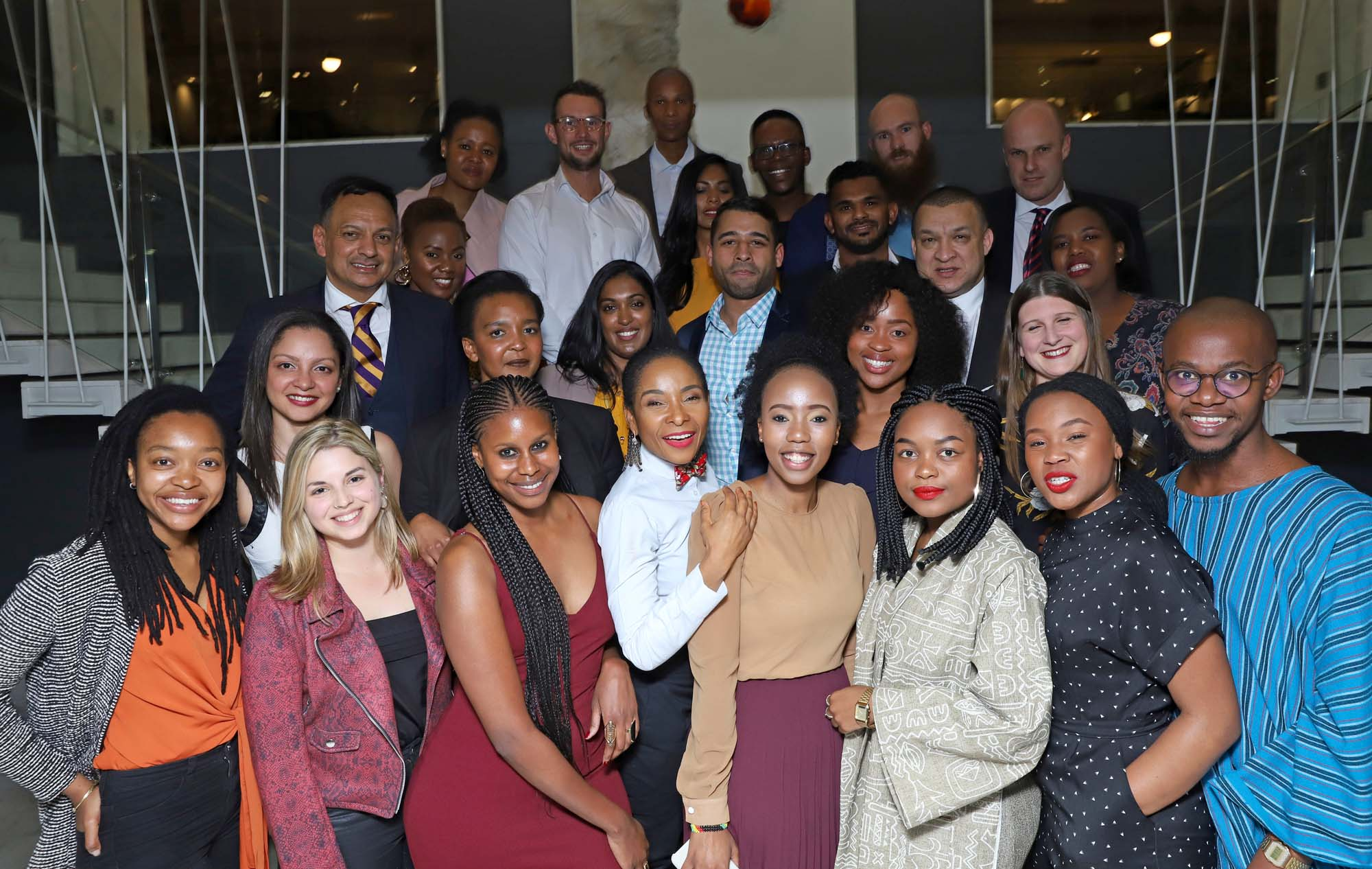 Some of the 41 UCT students, staff and alumni on the 2019 <i>Mail & Guardian</i>'s 200 Young South Africans list celebrate their achievements with VC Prof Mamokgethi Phakeng at the 15 On Orange Hotel on 30 August.