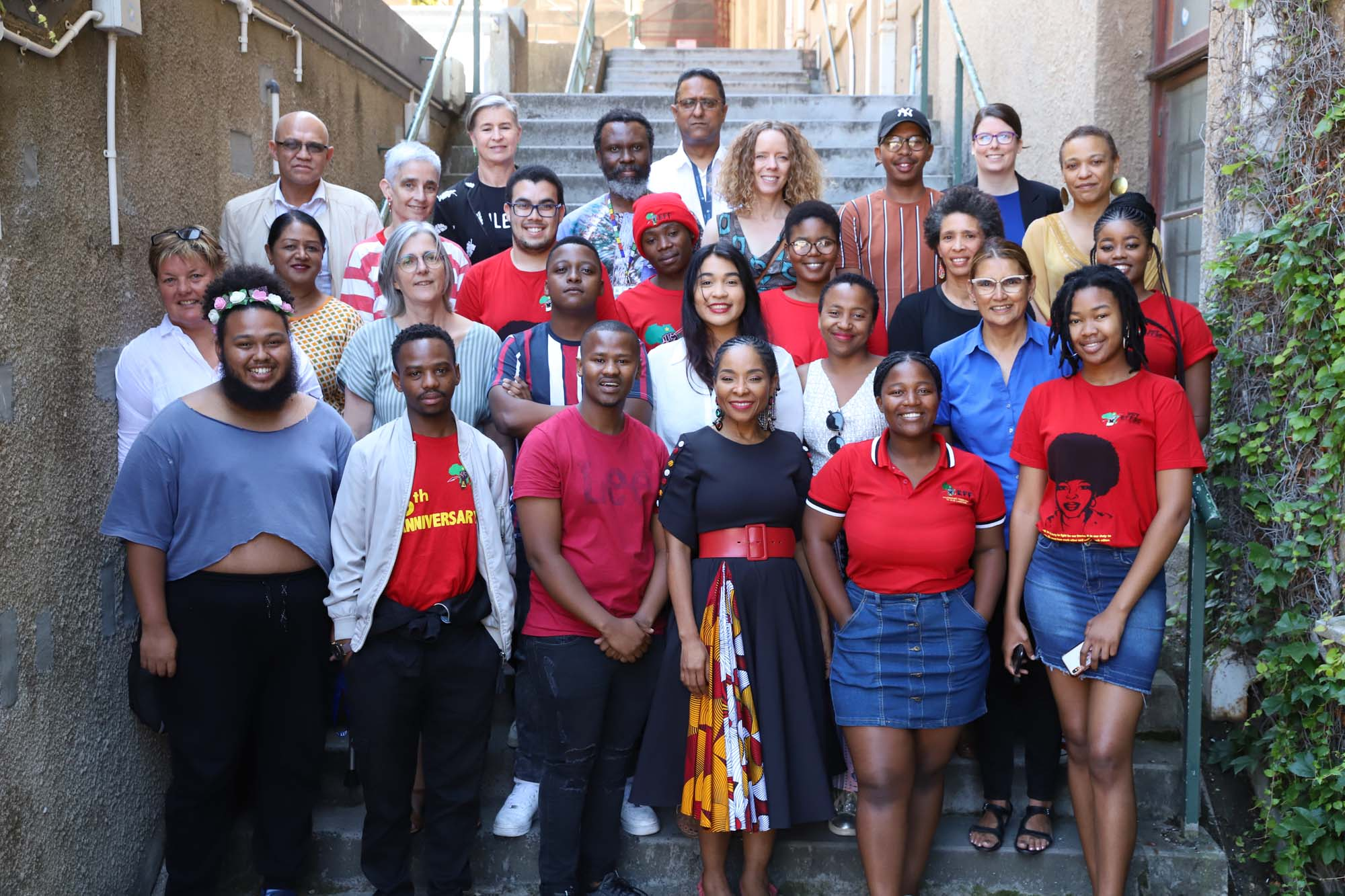 UCT's Students' Representative Council 2019/20 with members of the UCT leadership.