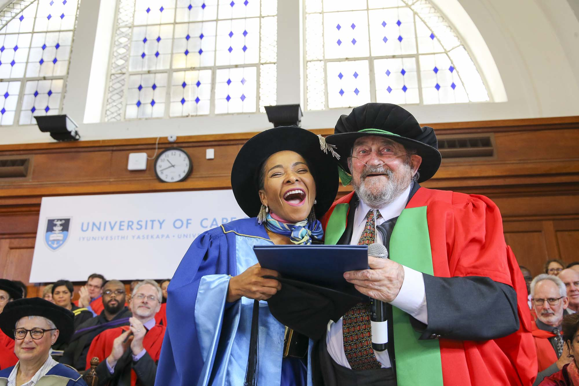 UCT awarded a Doctor of Science in Engineering (honoris causa) to Denis Goldberg at a graduation ceremony on 12 July in recognition of his courageous and selfless role in the anti-apartheid struggle over decades.