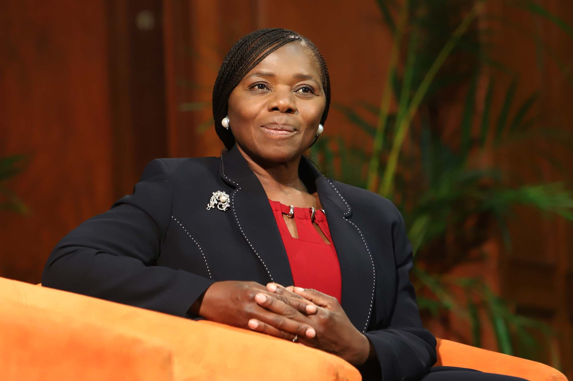 Former public protector Professor Thuli Madonsela addressed the audience at the Vice-Chancellor's Open Lecture on 21 August.