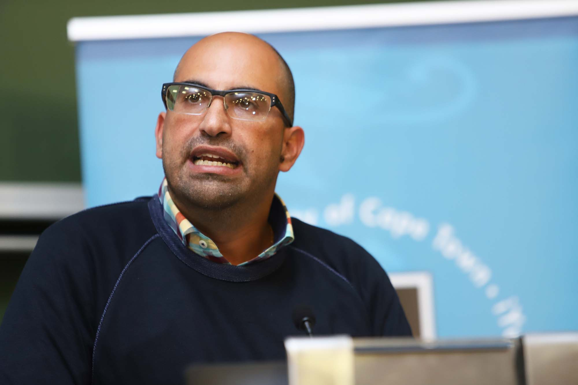 "Palestinian-American scholar, author and public speaker Dr Steven Salaita delivered the annual TB Davie Memorial Lecture, titled ""The inhumanity of academic freedom"", on 7 August."