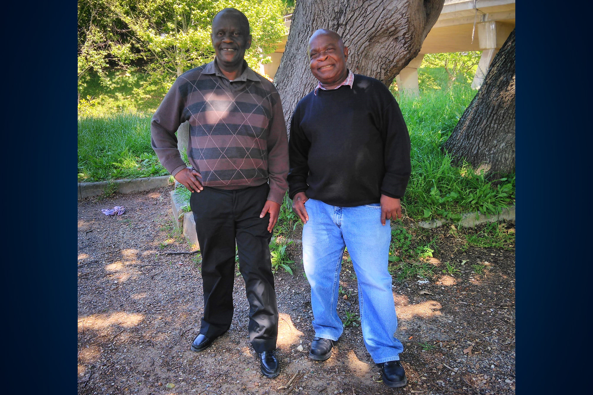 Mr Motlatsi Michael Tloti (on the left)