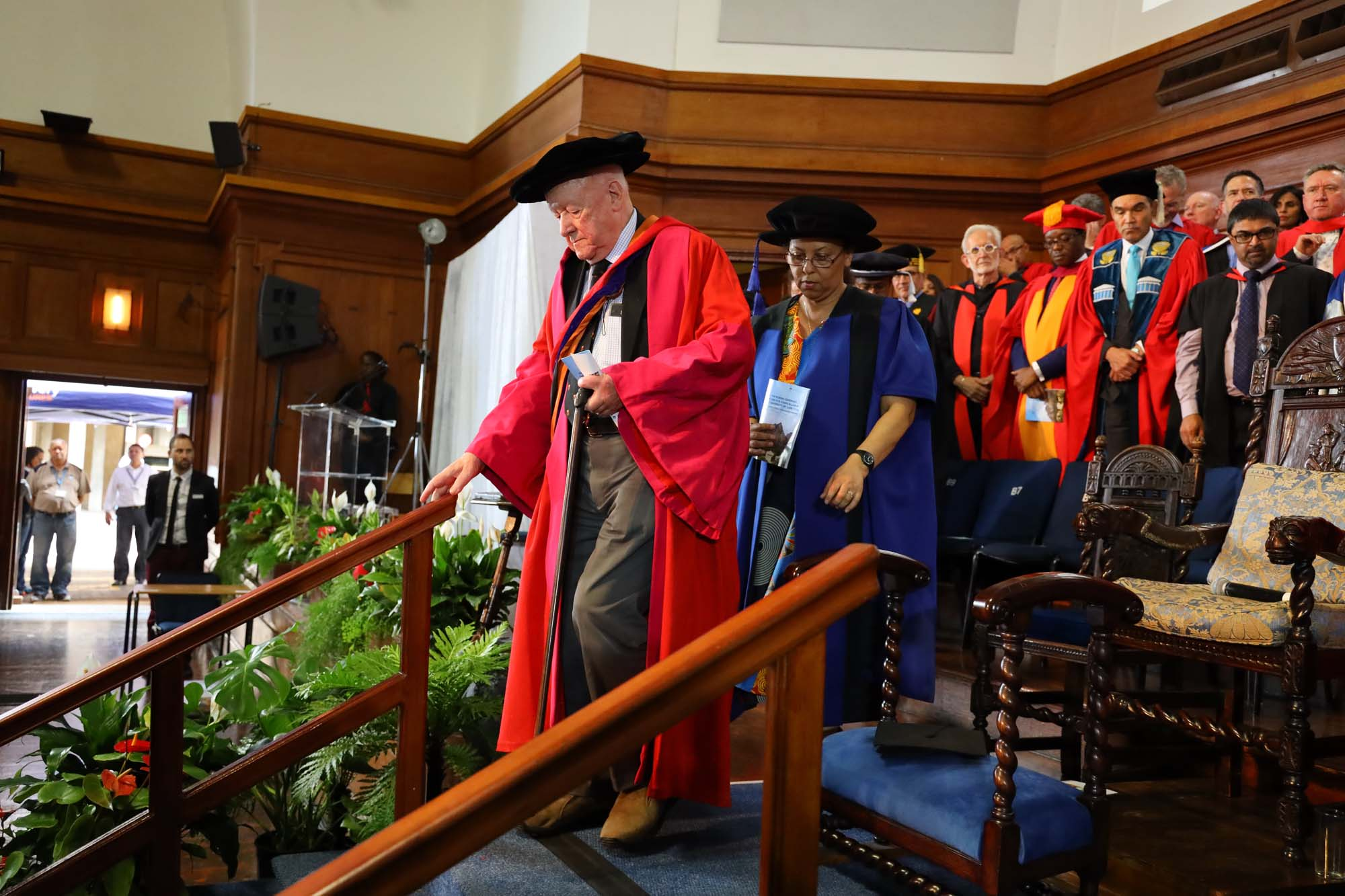 At the robing ceremony of Professor Mamokgethi Phakeng, the new vice-chancellor of the University of Cape Town, in December 2018.