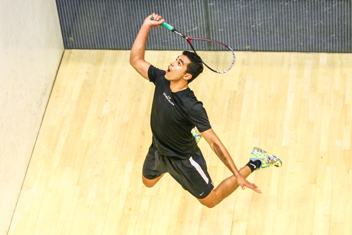 Hamed and ElSherbini rule squash courts