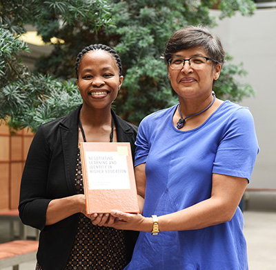 Dr Bongi Bangeni and Assoc Prof Rochelle Kapp, editors of the recently released Negotiating Learning and Identity in Higher Education: Access, Persistence and Retention.