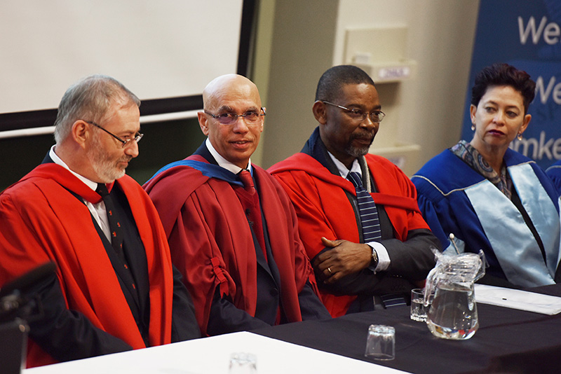 Prof Shahid Vawda at his Vice-Chancellor's Inaugural Lecture