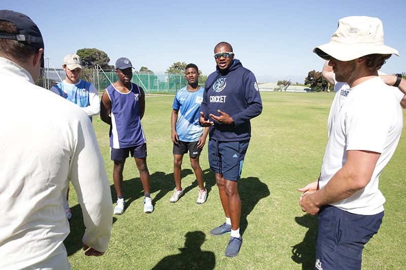 UCT's new cricket coach Eugene Moleon