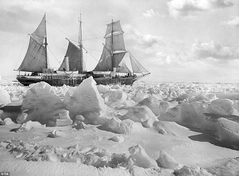 Sir Ernest Shackleton's 44 metre wooden ship Endurance