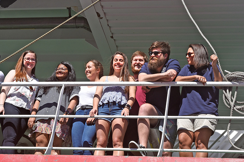On the deck of the SA Agulhas II