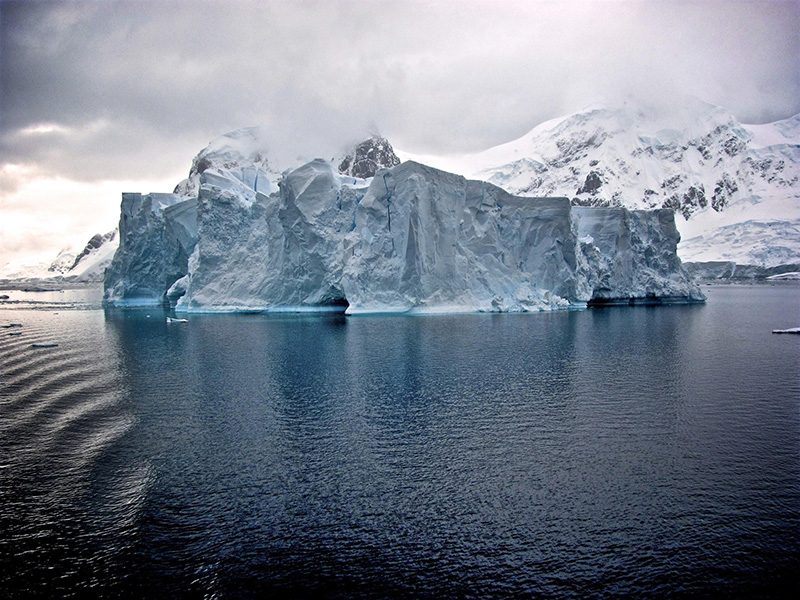 Ice meets sea in Antarctica