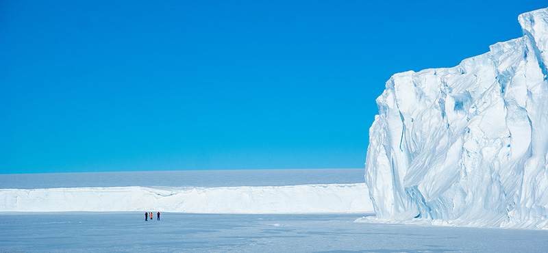 Antarctica's immense contrasts