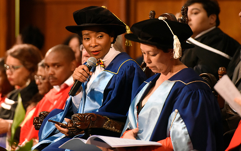VC Prof Mamokgethi Phakeng addresses the graduation ceremony