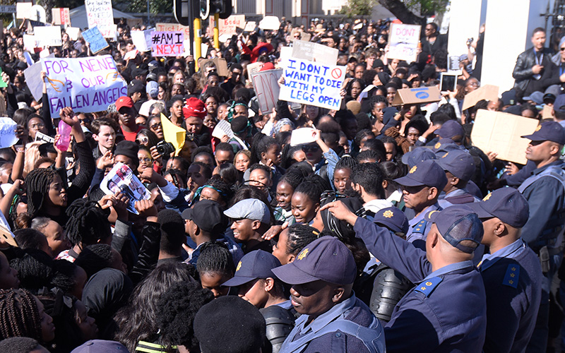 UCT says Enough is enough at Parliament picket